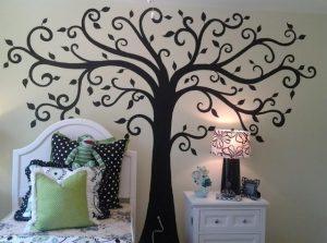 صورة طريقة رسم الشجرة على الجدار تلبية لطلب العضوات unnamed file 505 300x223