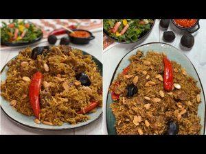 غداي اليوم تعالي شوفي حمسة الرز بالخضار الدجاج ششيي ولااطعم حياكم بالصور يمي